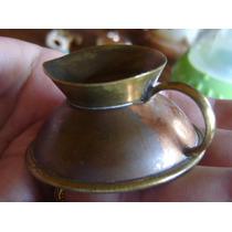 Miniatura Jarra Tetera Cafetera Bronce Laton Casa De Muñecas