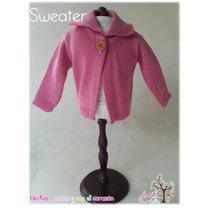 Sweater Rosa Para Muñeca De Trapo
