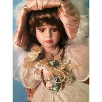 Preciosa Muñeca De Porcelana Con Certificado De Autenticidad