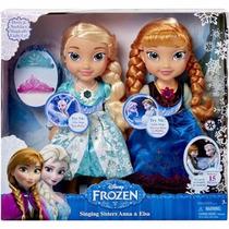 Disney Frozen Elsa Y Anna Cantan Y Se Ilumina Su Vestido