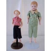 Muñecos Antiguos Porcelana Niño Y Adolecente