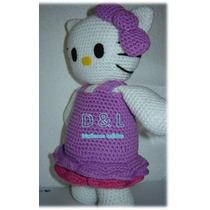 Hello Kitty Muñeco Tejido Amigurumi
