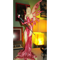 Estatua/escultura De Hada Roja Envio Gratis