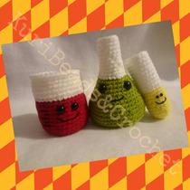Set De Química Tejido A Crochet Amigurumi Matraz Tubo Ensayo