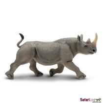 Juguete Rhino - Miniatura Safari Negro Animal De La Fauna De