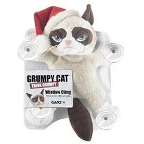 Grumpy Cat 10 Ventana Cling Con Sombrero De Santa