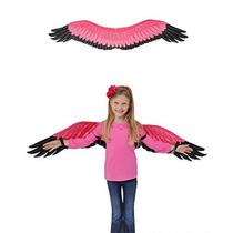 Childs Niños Pink Flamingo Aves Alas Disfraz De Accesorios