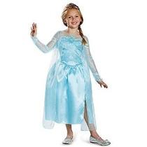 Disfraz Disney Congelado Elsa Snow Queen Vestido Clásico Niñ