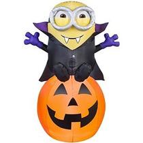 Halloween Inflable 5 Vampiro Minion Bob De Calabaza