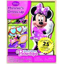 Bendon Disney Minnie Mouse De Madera Magnética Playset 25 Pi