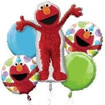 Elmo Globos - Sesame Street Elmo Balloon Bouquet - 5 Globos