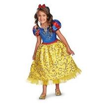 Disfraz Blancanieves Sparkle Deluxe Niñas Traje 3t-4t Disney