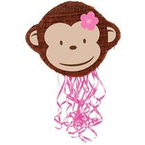 Pink Monkey Mod Pull-string Piñata