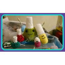 Llavero Amigurumi Matraz Erlenmeyer Tejido Crochet
