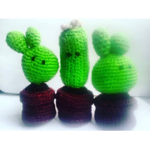 Cactus De Crochet, Cactus Tejidos A Mano
