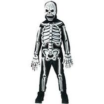 Rubíes Brillan En La Oscuridad Esqueleto Disfraz Niño Pequeñ
