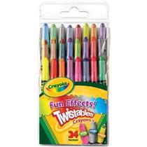 Crayola 24ct Mini Twistable Efectos Especiales Crayons