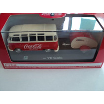 Coca Cola Volkswagen Samba Bus With Trailer 1962 Escala 1 43