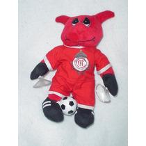 Diablo Del Toluca Mascota De Futbol Con Balon Y Tacos