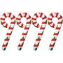 Kit 4 Bastones De Caramelo Inflables Navidad Decoracion