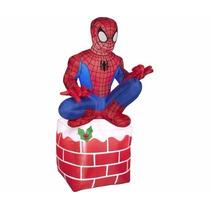 Inflable Navideño Spiderman Hombre Araña Sentado Decoracion