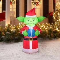 Inflable De Master Yoda Navideño De 1,60 Metros Envio Gratis