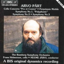 Arvo Part - Cello Concerto Sinfonias Cd Clasica