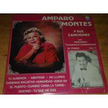 Amparo Montes Y Sus Canciones Acetato Vinil Disco Lp