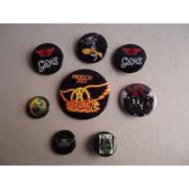 Lote Botones Pins Aerosmith, Green Day, Velvet Revolver