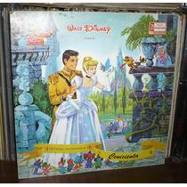 Cenicienta Lp Walt Disney Cuento Y Canciones