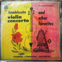 Clásica, Mendelssohn, Violin Concerto, Lp 12´, Idd,