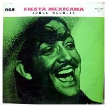 Disco Acetato De Jorge Negrete Fiesta Mexicana