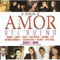 Lo Esencial De Amor Del Bueno 3cd + 1 Dvd Nuevo Excelente Es