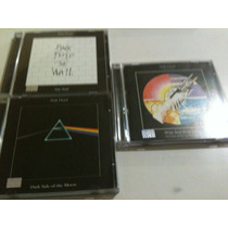 Pink Floyd.- Pulse- Pack Tres Cds- The Wall- Dark Side- Wish