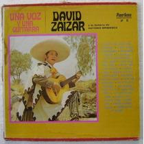 David Zaizar / Una Voz Y Una Guitarra 3 Discos Lp Vinilo