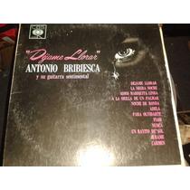 Disco Acetato: Antonio Bribiesca