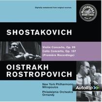 Shostakovich - Conciertos Violin Cello Clasica Cd Vv4