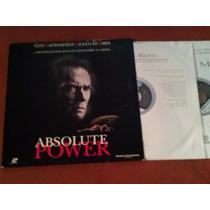 Laserdisc Absolute Power 1996 Widescreen Clint Eastwood