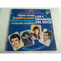 Los Cuatro Grandes Del Rock Mexicano/ Envío Gratis/ Lp Vinil
