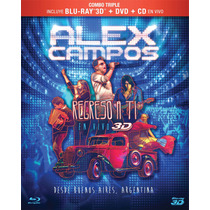 Alex Campos Regreso A Ti 3d (cd En Vivo+dvd+blu-ray 3d)