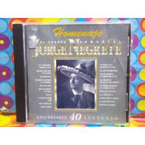 Jorge Negrete Cd 40 Aniversario Luctuoso 1993