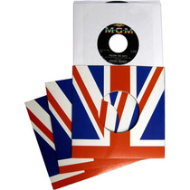 5x Fundas De Cartón Para Ep Bandera Inglaterra Brit Pop Mod