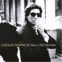 Joaquin Sabina - 19 Dias 500 Noches Cd Importado 1a Edición