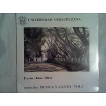 Disco Acetato De: Universidad Veracruzana Dueto Hnos. Oliva