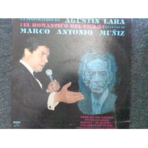 Disco L.p. De Marco Antonio Muñiz, Agustin Lara