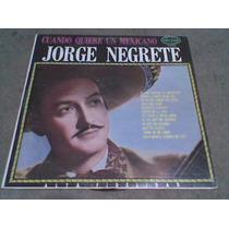L.p.grande De Jorge Negrete 33rpm