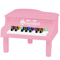 Schoenhut 18 Key Mini Piano De Cola - Rosa