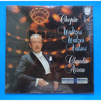 Raro Disco Chopin Valses Claudio Arrau Vinil Acetato Lp