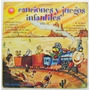 Canciones Y Juegos Infantiles 1 Disco Lp Acetato