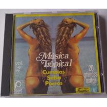 Musica Tropical Cumbias Salsa Porros 20 Grandes Exitos Cd